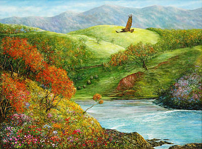 Hawk Hill Painting - A Piece Of Paradise by Jan Camerone