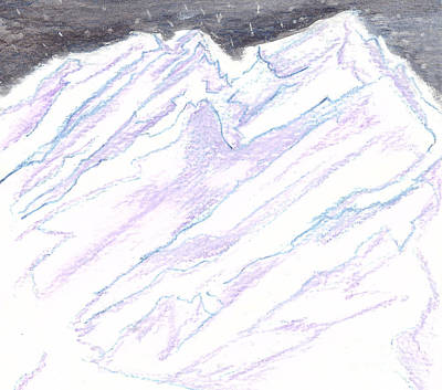 Painting - A Piece Of The Alaska Range2 by Heather  Hiland