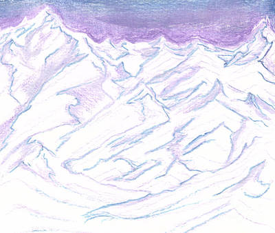 Painting - A Piece Of The Alaskan Range by Heather  Hiland