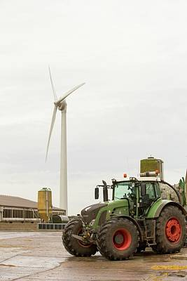 Grid Photograph - A Pig Farm Powered By A Wind Turbine by Ashley Cooper