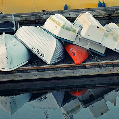 Photograph - A Pile Of Dinghies by Patricia Strand
