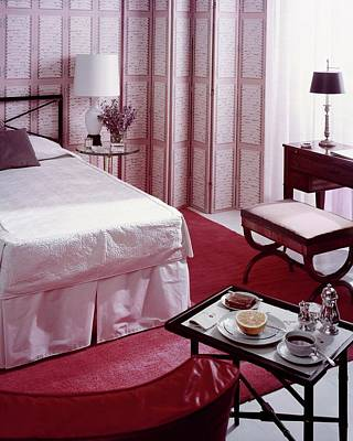 Mural Photograph - A Pink Bedroom by Haanel Cassidy