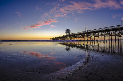 San Clemente Photograph - A Pink Low Tide by Sean Foster