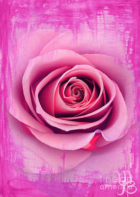 Painting - A Pink Rose by Mindy Bench