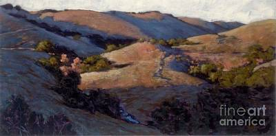 Painting - A Pinking Of The Hills by Betsee  Talavera