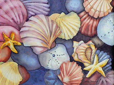Painting - A Piscean's Treasure by Pamela Shearer