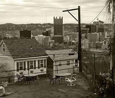 A Pittsburgh Backyard Art Print