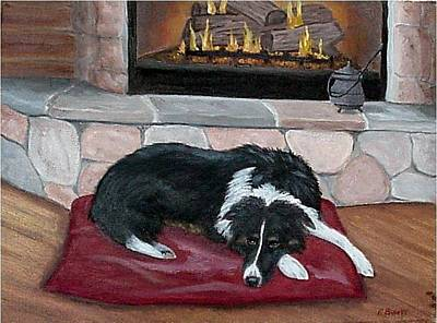 Art Print featuring the painting A Place By The Fire by Fran Brooks