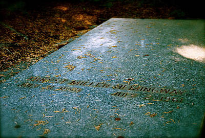 Photograph - A Place In The Sun Ernest Hemingway Grave Site  by Iconic Images Art Gallery David Pucciarelli