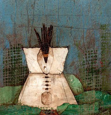 Tipi Mixed Media - A Place Of Centering-home by Laura  Lein-Svencner