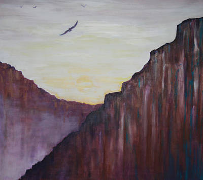 Soaring Painting - A Place To Meditate by Kathy Peltomaa Lewis