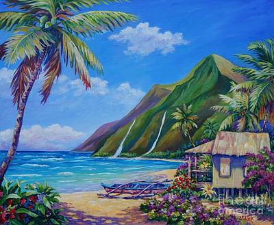 Outrigger Painting - A Place To Play by John Clark