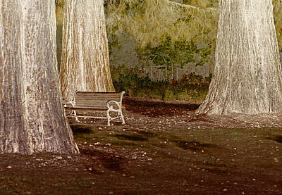 A Place To Ponder Art Print by Bonnie Bruno