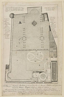 King George Photograph - A Plan Of The Academy At Norlands by British Library