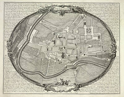 City Map Photograph - A Plan Of The City Of Bath by British Library
