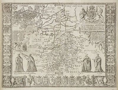 A Plan Of The County Of Cambridgeshire Art Print by British Library