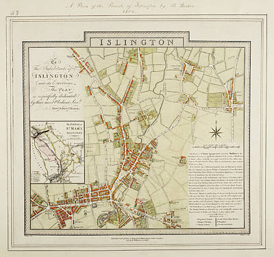Cartographic Photograph - A Plan Of The Parish Of Islington by British Library