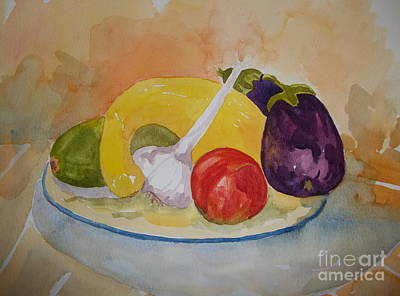 Painting - A Plate Full by Pat Crowther