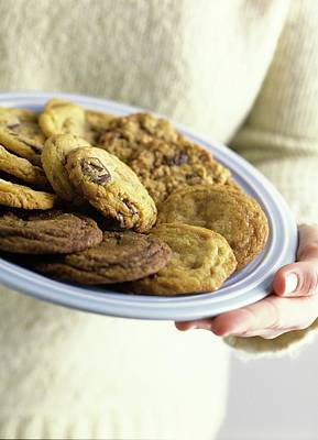 Oatmeal Photograph - A Plate Of Cookies by Romulo Yanes
