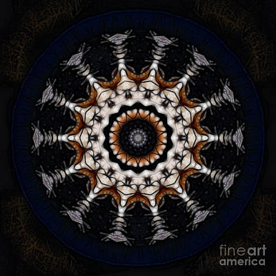 Digital Art - A Plutonian Moondial by Rhonda Strickland