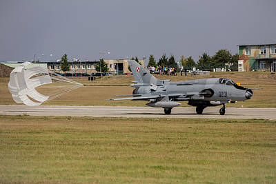 Sukhoi Photograph - A Polish Air Force Su-22 Fighter-bomber by Timm Ziegenthaler