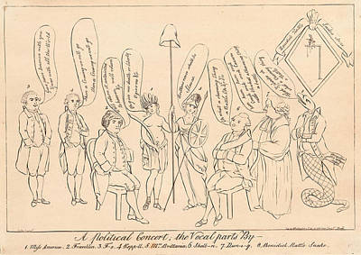 Pole Drawing - A Political Concert The Vocal Parts By 1. Miss America by Litz Collection