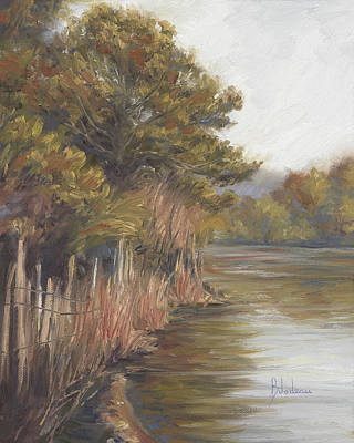 Cape Cod Painting - A Pond In Wellfleet by Lucie Bilodeau