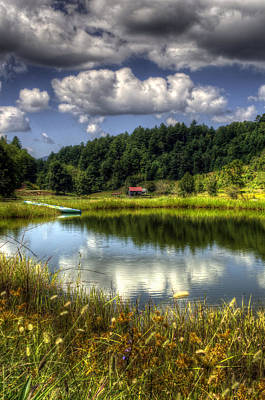 Barn Photograph - A Pond Reflection by Greg and Chrystal Mimbs