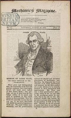 Watt Photograph - A Portrait And Obituary Of James Watt. by British Library