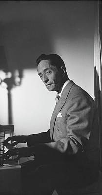 Piano Photograph - A Portrait Of Agustin Lara by Horst P. Horst