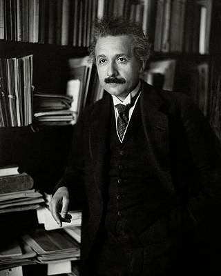 Scientist Photograph - A Portrait Of Albert Einstein by Martin Hohlig