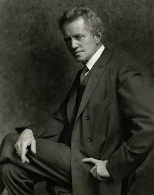 Cross Legged Photograph - A Portrait Of Arnold Genthe by Nickolas Muray