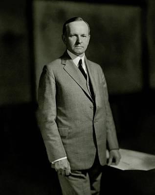 A Portrait Of Calvin Coolidge Art Print