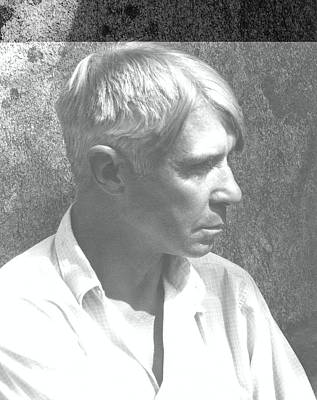 Profile Shadow Photograph - A Portrait Of Carl Sandburg by Edward Steichen