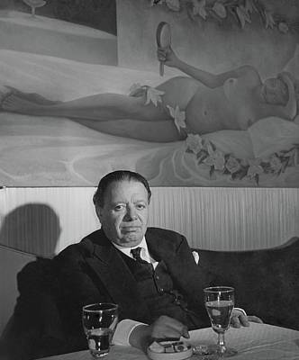 Mural Photograph - A Portrait Of Diego Rivera At A Restaurant by Horst P. Horst