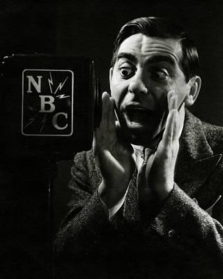Photograph - A Portrait Of Eddie Cantor Speaking by George Hoyningen-Huene