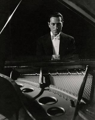 Society Photograph - A Portrait Of George Gershwin At A Piano by Edward Steichen