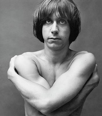 Photograph - A Portrait Of Iggy Pop by Peter Hujar