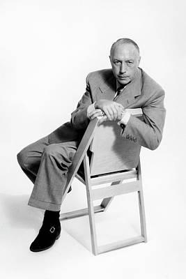 Joseph Photograph - A Portrait Of Joseph Platt In A Wooden Chair by Herbert Matter