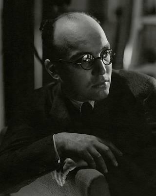 Photograph - A Portrait Of Kurt Weill by George Hoyningen-Huene