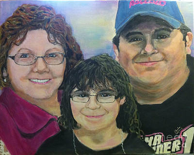 Painting - A Portrait Of Marilyn And Gary And Victorya  by Charlie Harris