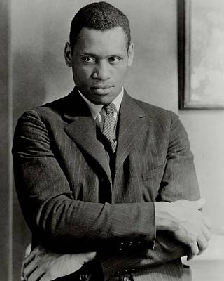 Film Photograph - A Portrait Of Paul Robeson by Ralph Steiner