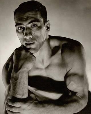 Shirtless Photograph - A Portrait Of Primo Carnera by Edward Steichen