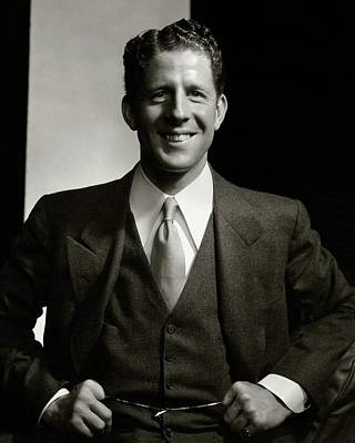 A Portrait Of Rudy Vallee Smiling Art Print by Edward Steichen