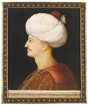 Plaque Painting - A Portrait Of Suleyman The Magnificent by Celestial Images