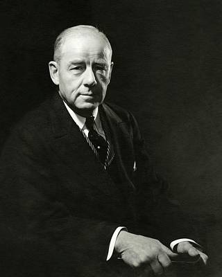 Balding Photograph - A Portrait Of Thomas W. Lamont by Edward Steichen