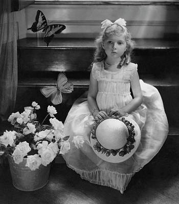 Virginia Butterfly Photograph - A Portrait Of Virginia Leigh by Cecil Beaton