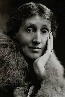 A Portrait Of Virginia Woolf Art Print by Maurice Beck & Helen Macgregor
