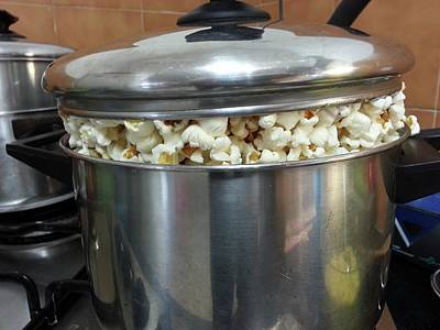 Stove Photograph - A Pot Of Pop Corn by Photostock-israel