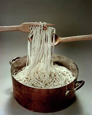 Tableware Photograph - A Pot Of Spaghetti by John Stewart